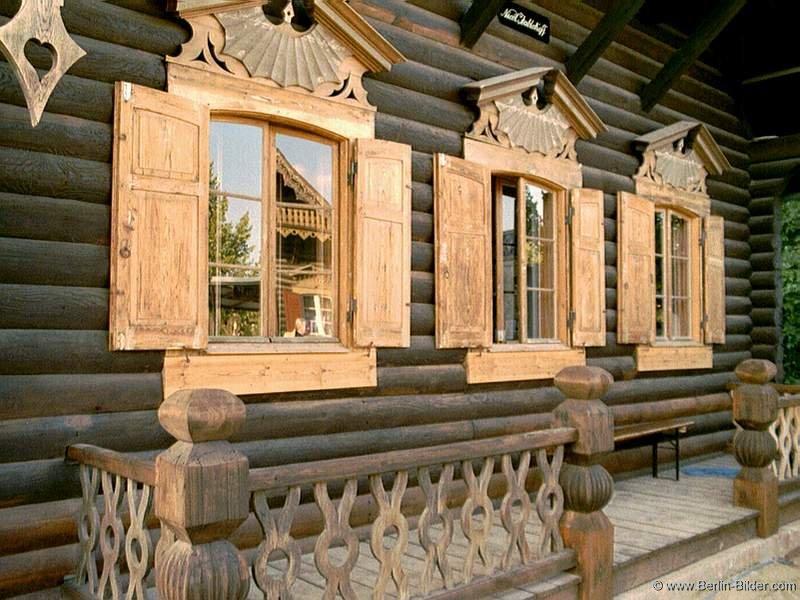 bilder aus berlin und potsdam russische siedlung alexandrowka blockhaus der russischen dorf. Black Bedroom Furniture Sets. Home Design Ideas